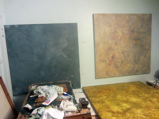 OCTOBER PAINTING - Scumble glazing, second phase of the paintings.