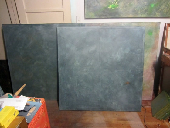 october-paintings-scumble-glazed-and-drying-in-studio.