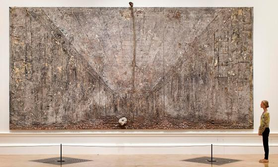 Ash Flower, a 26 foot painting by Anselm Kiefer